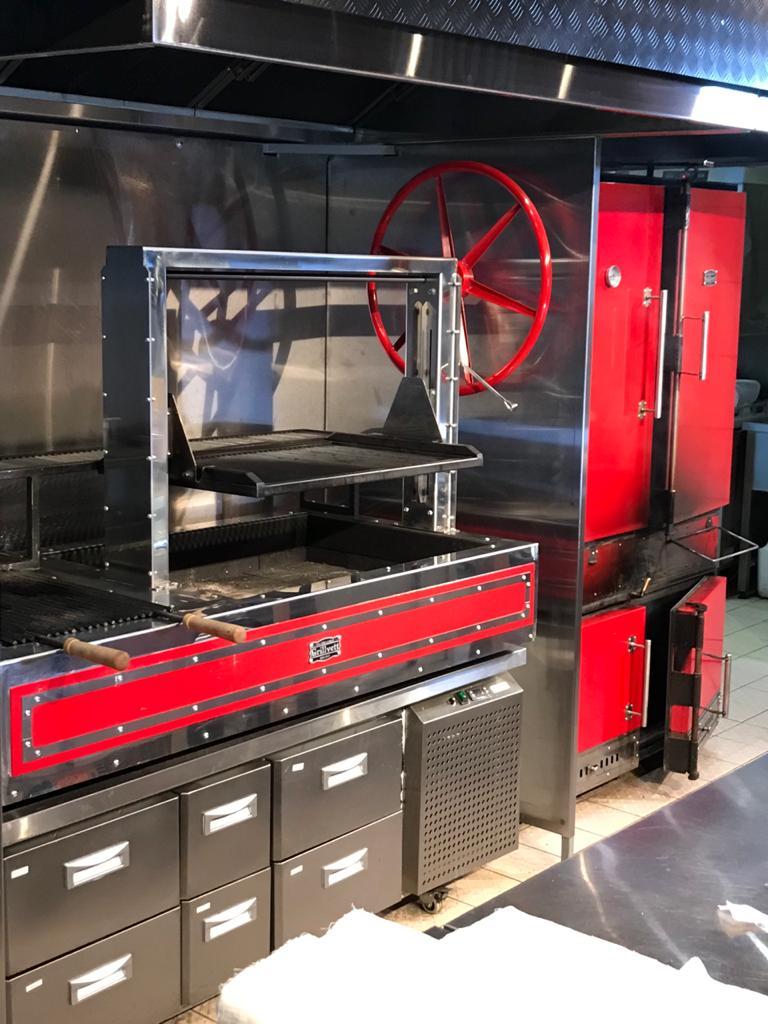 Угольный гриль-печь Grillvett Cabinet 1100